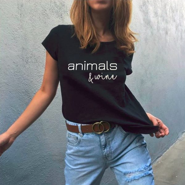 Animals & Wine – Tee in Black