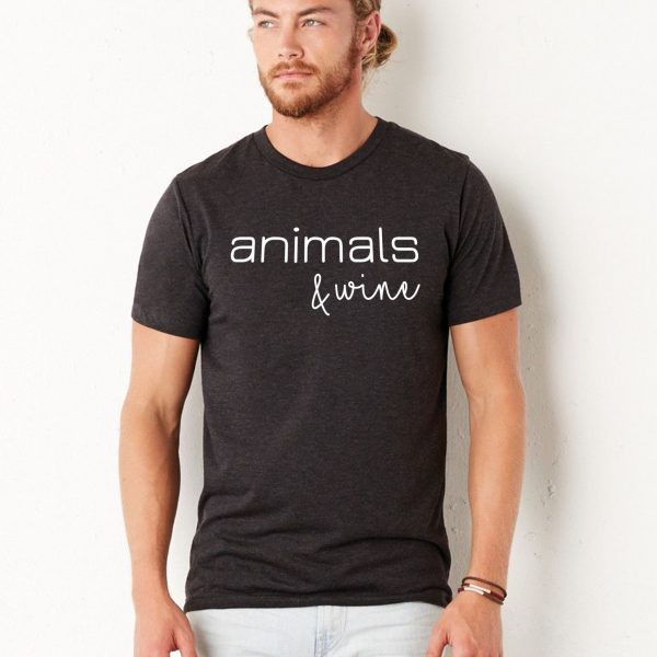 Animals & Wine – Tee in Black for Men