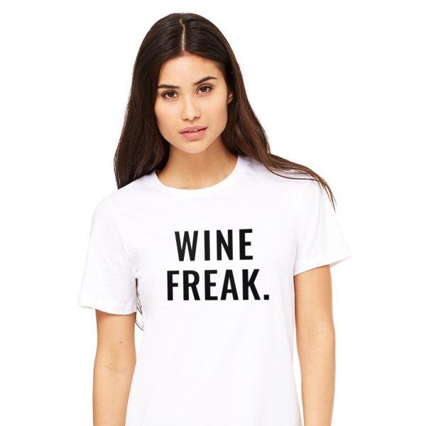 Wine Freak Tee in White