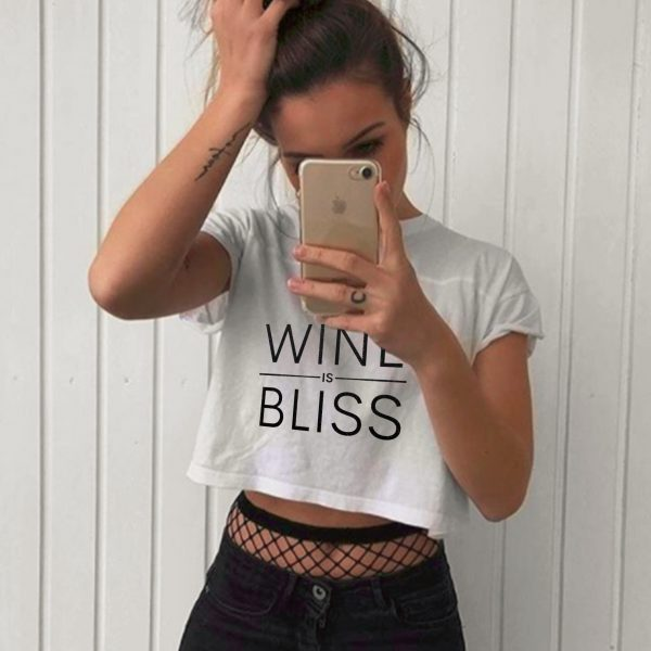 Wine Is Bliss Classic Crop Top