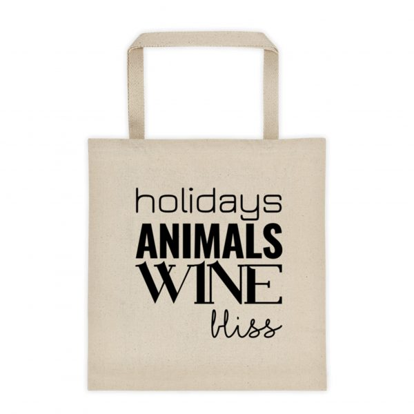 holidays Animals Wine bliss Farmers Market Tote – Canvas Color