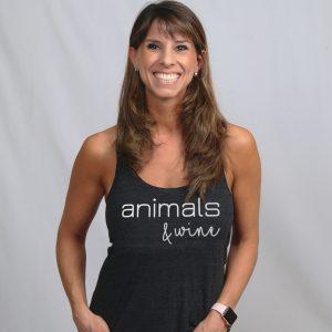 Animals & Wine Tee on Founder Samantha Schwartz Lenhart