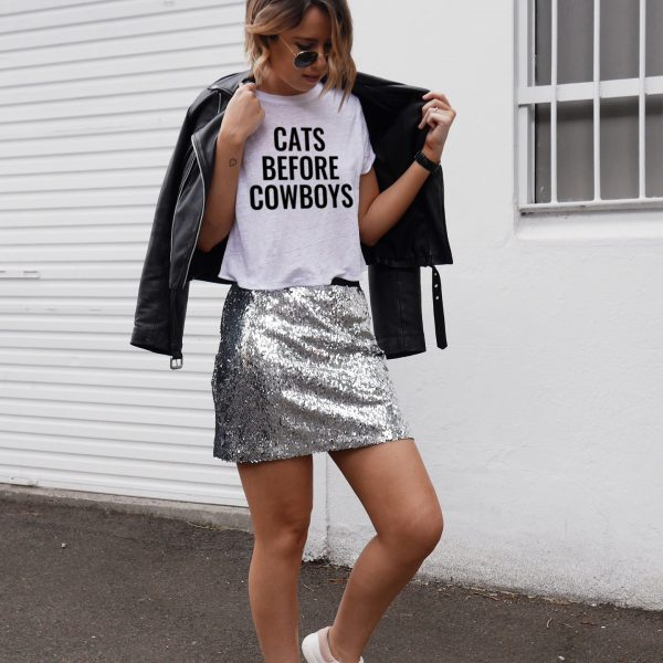 Cats Before Cowboys Tee