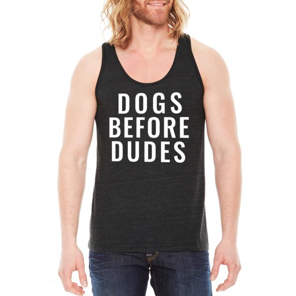 Dogs Before Dudes Tank in Black
